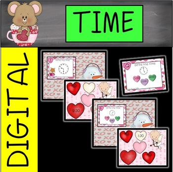 Valentine's Day Snowman Time Task Cards