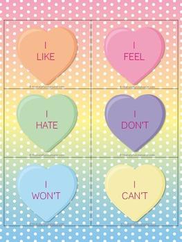 Valentine's Day Social Skills Activity: Conversation Hearts