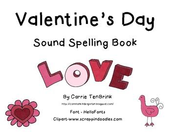 Valentine's Day Sound Spelling Book