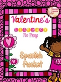 Valentine's Day Spanish  Literacy *NO PREP packet*