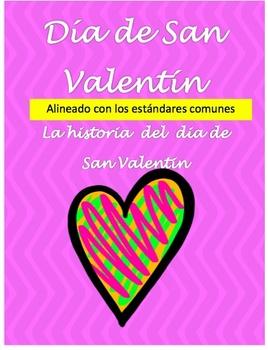 Valentine's Day Spanish Reading Comprehension Informationa
