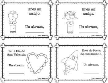 Valentine's Day Spanish, Valentines Writing, Cards, and Vocabulary
