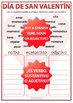 Valentine's Day Spanish Worksheet - Verb, Noun or Adjective?