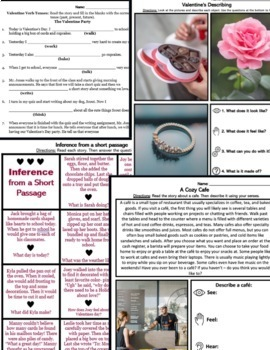 Valentines Day Speech Therapy Expressive and Receptive Language
