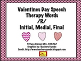 Valentines Day Speech Therapy /R/ Words