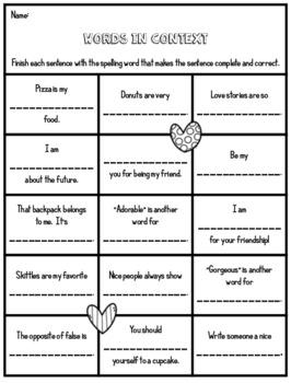 Valentine's Day Spelling