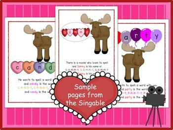 Valentine's Day Spelling Song! Sammy the Moose Loves to SPELL!