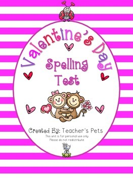 Valentine's Day Spelling Test