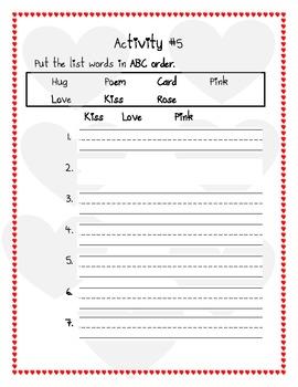 Valentine's Day Spelling Unit Grade 1