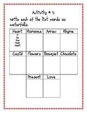 Valentine's Day Spelling Unit Grade 2