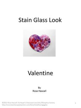 Free: Valentine's Day Stained Glass Look Heart