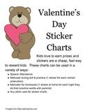 Valentines Day Sticker or Stamp Charts