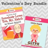 Valentine's Day Story Study and Glyph Craftivity Bundle