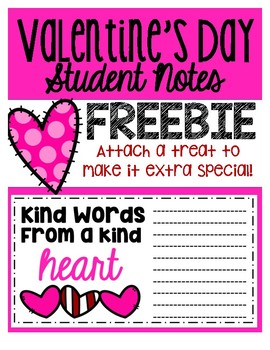 Valentines Day Student Notes