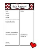Valentine's Day Sub Report Form