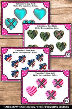 Valentines Day Math Activities Games Kindergarten Subtraction Facts Task Cards