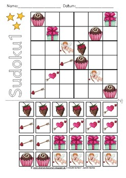Valentines Day Sudoku Puzzle (6x6)