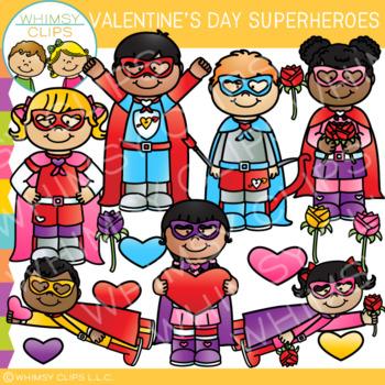 Superhero Valentine's Day Clip Art
