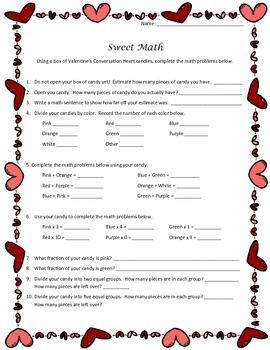 Valentine's Day Sweet Math