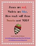 Valentine's Day Sweet Shop Math Center Regrouping & Money