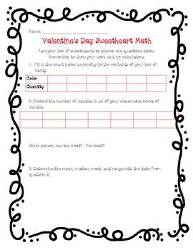 Valentine's Day Sweetheart Math