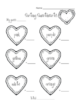 Valentine's Day Sweethearts Activity
