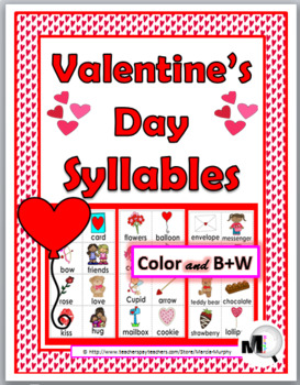 Syllables Sort - Valentine's Day