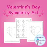 Valentine's Day Math Symmetry Art