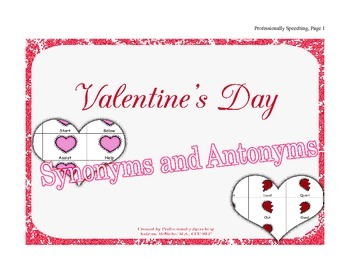 Valentine's Day Synonyms and Antonyms