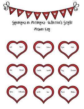 Valentine's Day- Synonyms or Antonyms