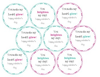 Valentine's Day Tags (Glowsticks)