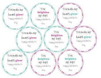 Valentine's Day Tags (Glowsticks)