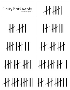 Valentine's Day Tally Marks