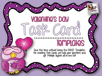 Valentine's Day Task Card Template