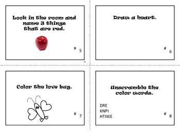 Valentine's Day Task Cards