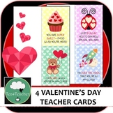 Valentines Day Teacher Cards x4 - From Teacher to Student - Just print and go!