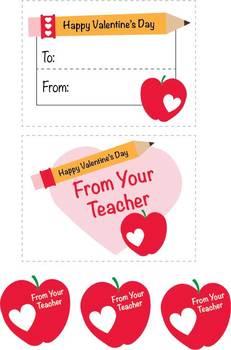Valentine's Day Teacher Stickers ** ORIGINAL ARTWORK