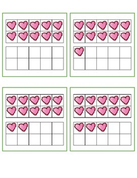 Valentine's Day Teen Number Match