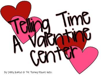 Valentine's Day Telling Time Freebie