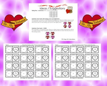Valentine's Day - Telling Time - Interactive Activities.