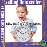 Telling Time to the Hour, Half-Hour, and Five Minutes Centers