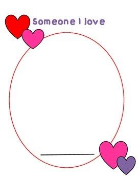 Valentine's Day Template: Someone I Love