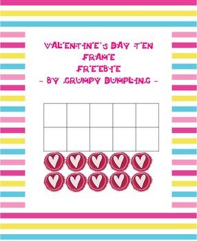 Valentine's Day Ten Frame