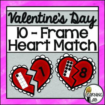 Valentine's Day Ten Frame Match