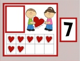 Valentine's Day Ten Frame Match (numbers 0-20) for Math Centers