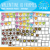 Valentine's Day Ten Frames - Hearts and Chocolates