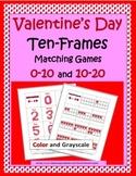 Ten Frames Activities 0-20 - Valentine's Day Math
