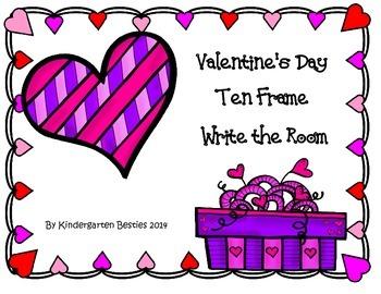 Valentine's Day Ten Frames Write the Room