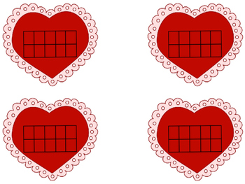 Valentines Day Tens Frames