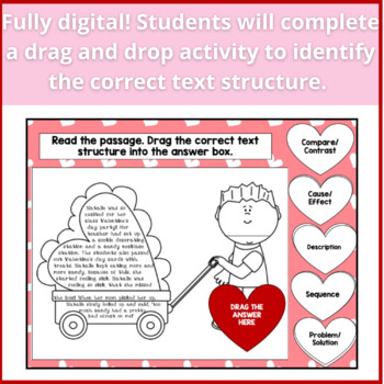 Valentines Day Text Structure Review CRAFTIVITY!